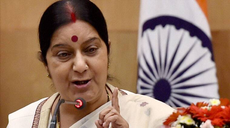 Sushma Swaraj Armt Reservation in Police Recruitment