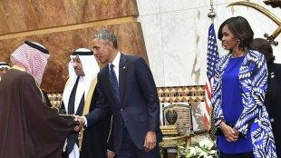 Barack Obama, Michelle Obama, Saudi Arabia, Head Scarf Controversy