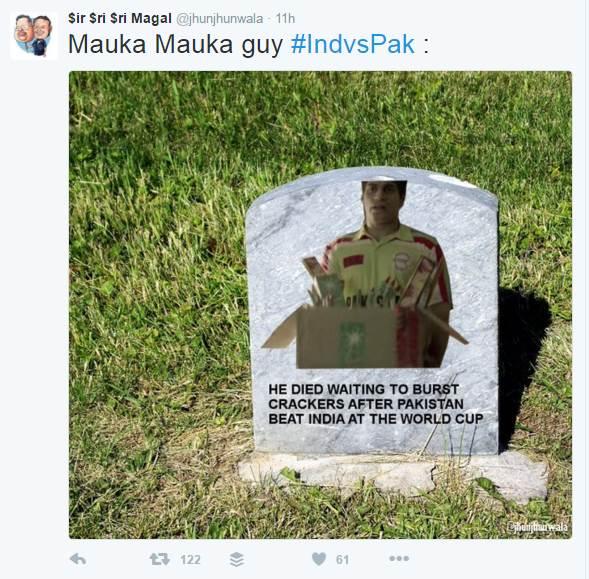 India vs Pakistan, Ind vs Pak, Shahid Afridi, indian fans, pakistani fans, #IndvsPak, Qandeel Baloch, Twitter Reactions, India defeat Pakistan, jokes on pakistan, Twitterati hails Kohli, India beat Pakistan, Shoaib Malik, #PakwvIndw, Pakistani cricket fan, indian cricket fan, ICC World Twenty20, Kolkata, India, Pakistan, Mahendra Singh Dhoni, ICC World Twenty20, Shoaib Akhtar, Pakistan, India national cricket team, Virat Kohli, India Pakistan rivalry, World T20, शाहिद आफरीदी, कंदील बलूच, पाकिस्तानी मॉडल