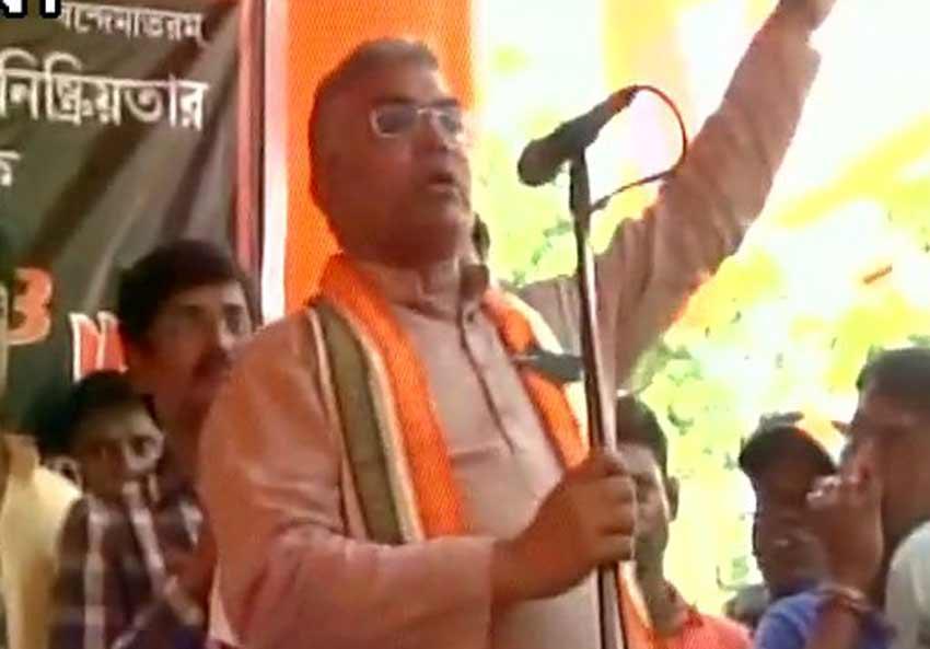 बंगाल BJP चीफ की TMC को घर में घुसकर मारने की चुनौती, कहा-RSS की ट्रेनिंग से तोड़ सकते हैं गर्दन