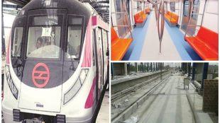 delhi, delhi metro, magenta line, kalindi kunj station, okhla vihar metro station, janakpuri, botanical garden, DMRC, arvind kejriwal. indian express delhi, delhi news