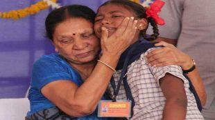 Anandiben Patel, Gujarat, ambika gohil, Female Foeticide, anandiben patel breaks down, anandiben patel emotional, guajrat CM weeps, gujarat hindi news, gujarat khera district, anandiben patel news