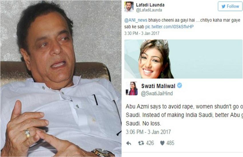 Abu Azmi, Abu Azmi on girls, india news