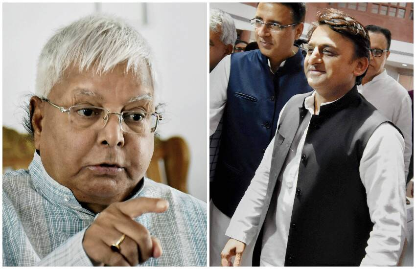 Lalu Prasad Yadav And Akhilesh Yadav