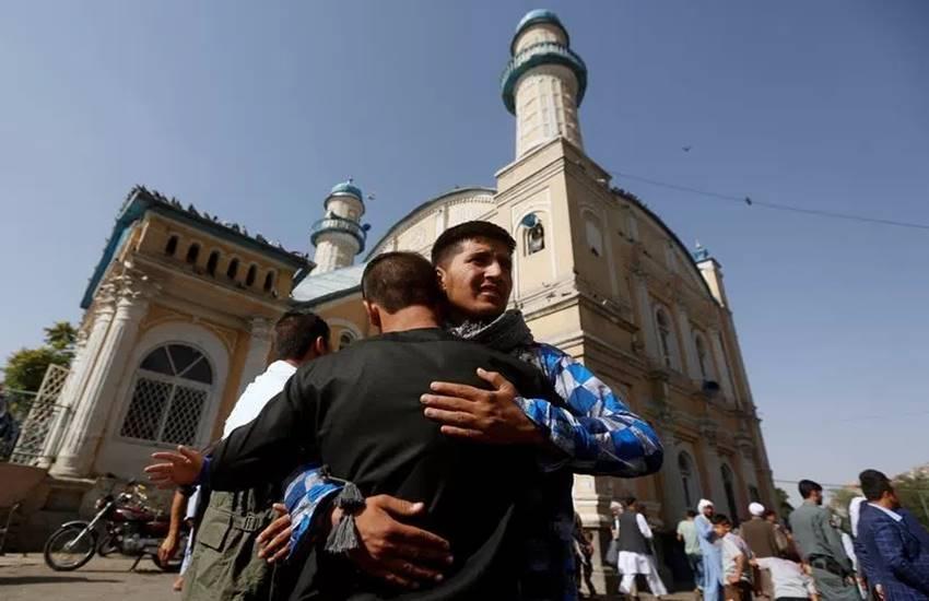 Muslim devotees celebrating Eid at Jama Masjid, china