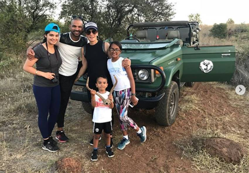 s dhawan with family