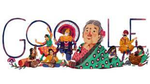 Kamaladevi Chattopadhyay, कमलादेवी चट्टोपाध्याय, Kamaladevi Chattopadhyay Doodle, kamaladevi chattopadhyay books, kamaladevi chattopadhyay awards