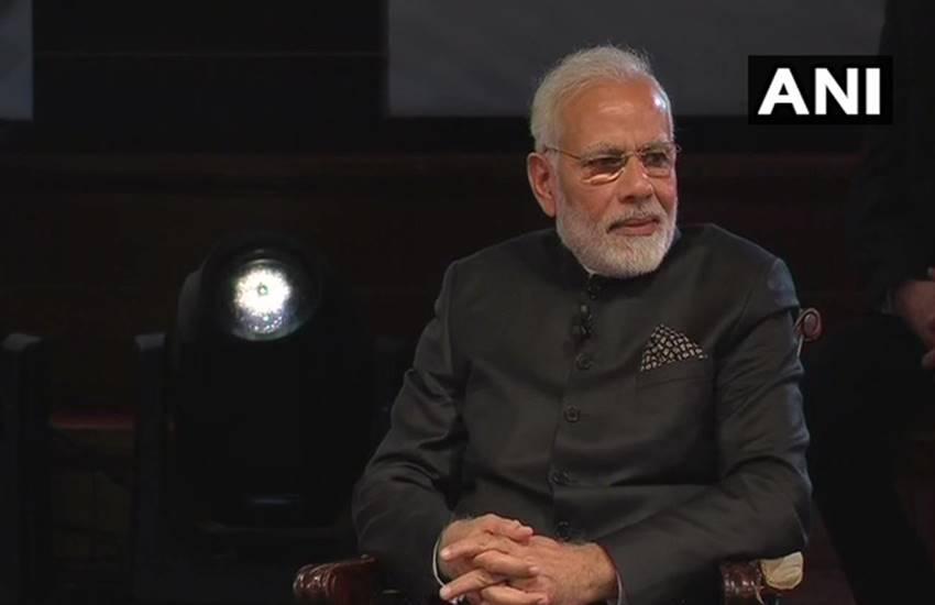 PM Narendra Modi in London's 'bharat-ki-baat-sabke-saath-event' in united kingdom