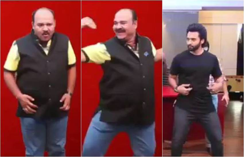 mitron starcast, kritika kamra, jackky bhagnani, kritika kamra and jackky bhagnani, jackky bhagnani dancing with dabbu uncle, here is video of jackky and dabbu uncle, jackky bhagnani and dabbu uncle dancing on kamariya song, kamariya song, bhojpuri song, entertainment news, bollywood news, television news, entertainment news, bollywood news