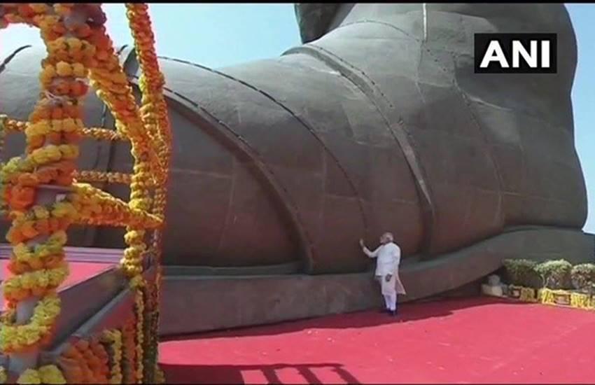Modi at Statue Of Unity