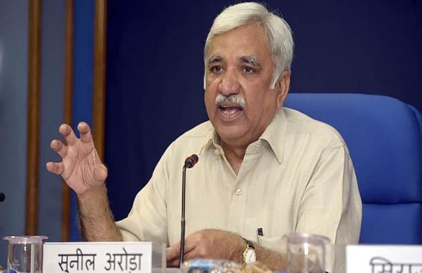 sunil arora, Chief Election commissioner