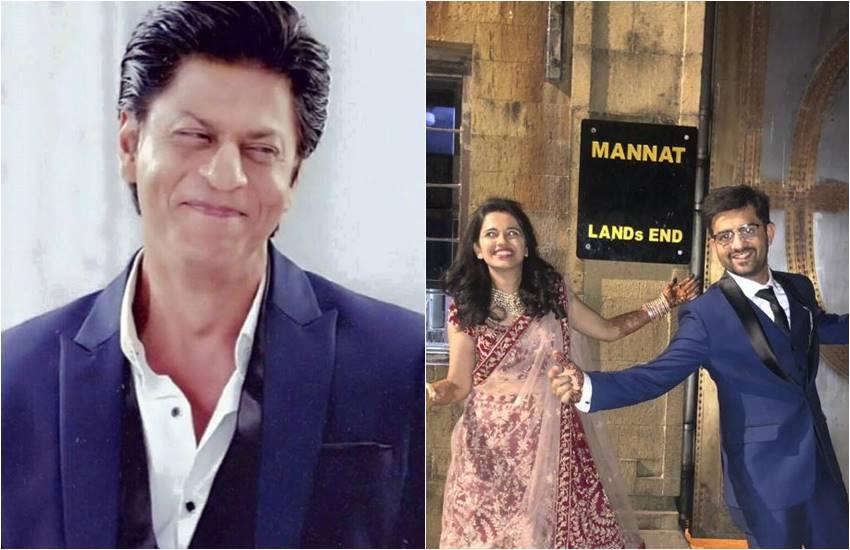 shahrukh khan replied to the fan couple, shahrukh khan, srk fan couple get married, SRK HOUSE IN MUMBAI, shahrukh khan bungalow mannat, FANS take a click OF MANNAT, SRK replied to the couple FAN, ENTERTTAINMENT NEWS, BOLLYWOOD NEWS, TELEVISION NEWS