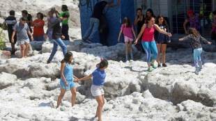 freak hailstorm, guadalajara, mexico city, climate change, global warming