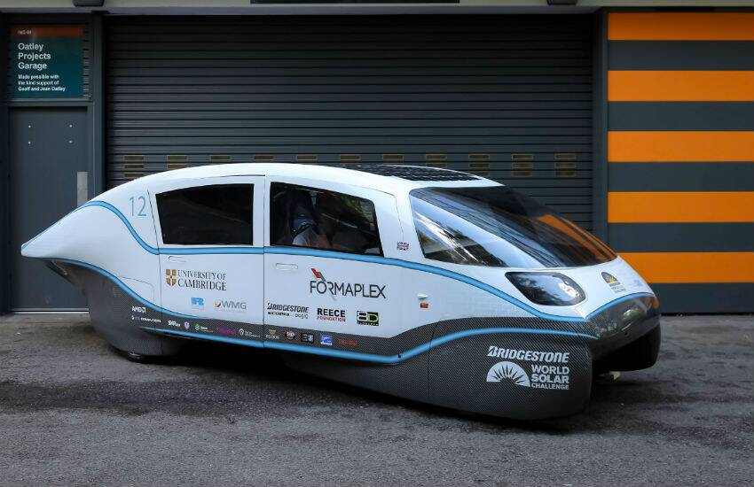 Helia electric car range, electric car with 900 km range, Cambridge University electric car, most efficient electric car, helia electric car