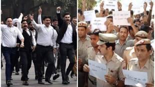 Delhi Police vs lawyers, Delhi police, delhi lawyers, Bar council of india, delhi courts, police protest, tis hazari court, saket court, rohini court, cop vs lawyers, police lawyer clashes, BCI, Delhi police comissioner, amulya pattnaik, india news, Hindi news, news in Hindi, latest news, today news in Hindi
