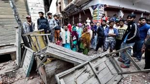 देश की राजधानी दिल्ली में दंगे की आग में सबकुछ तबाह हो गया (फोटो पीटीआई)