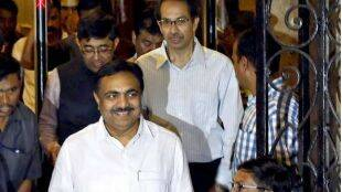 Jayant Patil with Uddav Thackeray
