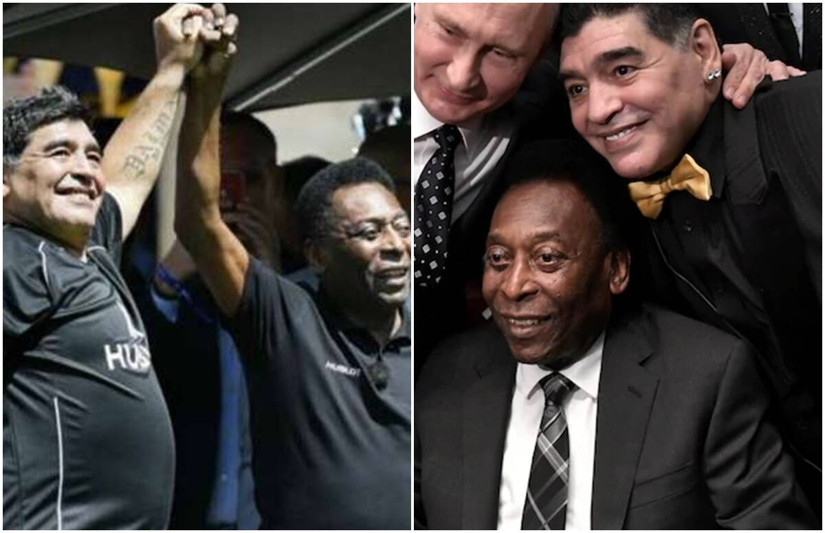 'One day we will play football together in the sky,' Pele paid tribute to Maradona in this way