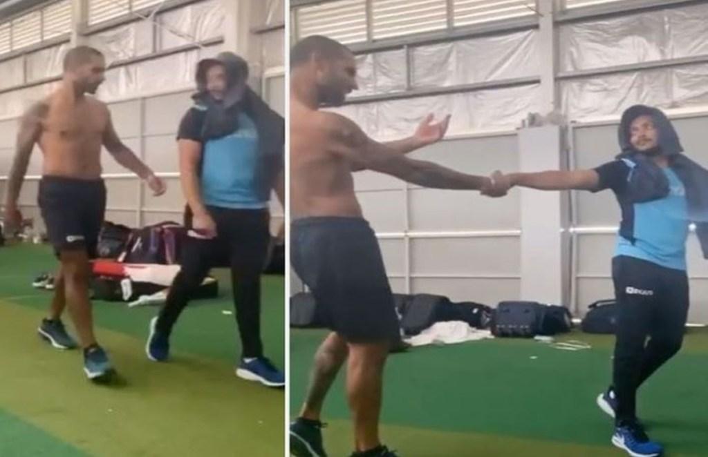 shikhar dhawan, prithvi shaw, dance video
