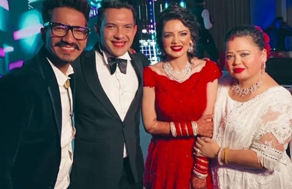 Bharti Singh, Aditya Narayan, Aditya Narayan Wedding Reception, Bharti-Harsh