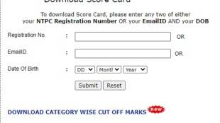 NTPC EET 2020 Score Card, NTPC EET 2020 Score Card download
