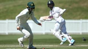 Wriddhiman Saha India vs Australia A Practice Match