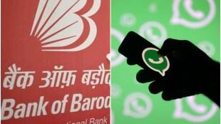 bank of baroda, whatsapp