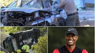 Tiger Woods Accident Los Angeles Damaged Vehicle
