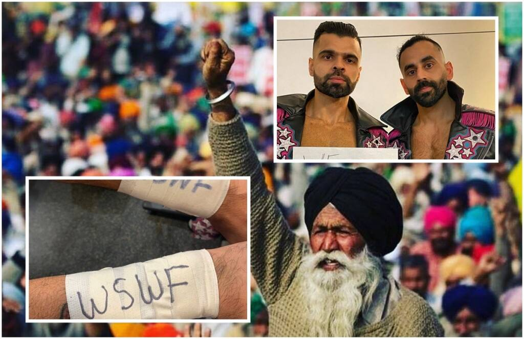 WWE Wrestler Singh Brothers jinder mahal farmers protest