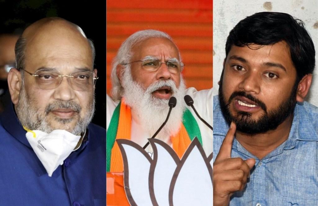 Narendra Modi, Amit Shah, Kanhaiya Kumar