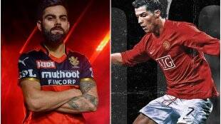 Virat Kohli Cristiano Ronaldo AB de Villiers Yuzvendra Chahal Kyle Jamieson