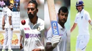 Mohammed Shami, Siraj, Mohammed Siraj, Shubman Gill, Mayank Agarwal