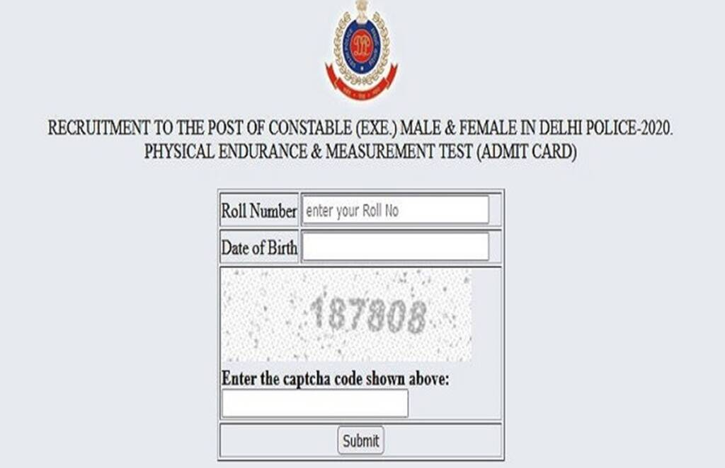 Delhi Police, Delhi Police Constable Recruitment 2021, Delhi Police Constable Recruitment Admit Card, Delhi Police Exam