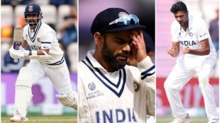 Ajinkya Rahane, Virat Kohli, Ashwin