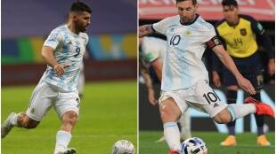 Lionel Messi Sergio Aguero COPA AMERICA 2021 Argentina Football Team