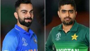 Virat Kohli Babar Azam India vs Pakistan