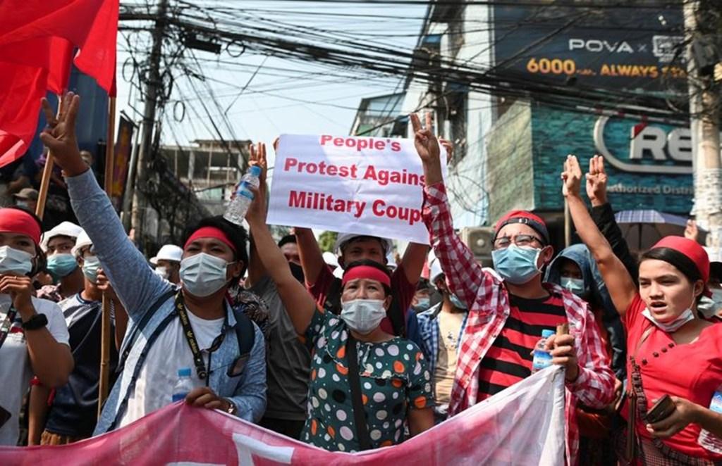 Myanmar, Coup Protestors