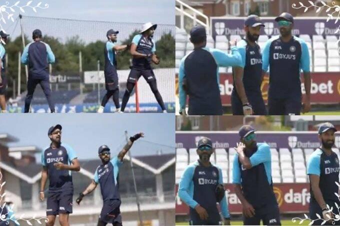 INDvsENG- Team Ashwin And Team Virat Kohli faceoff Before Warm up match