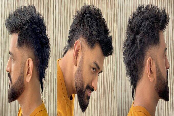 ms-dhoni-new-look-pictures-gone-viral-on-social-media-and-people-ask-virat-kohli-for-clean-shave