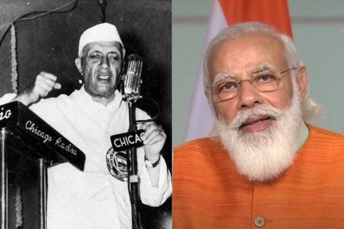 Jawaharlal Nehru, Narendra Modi