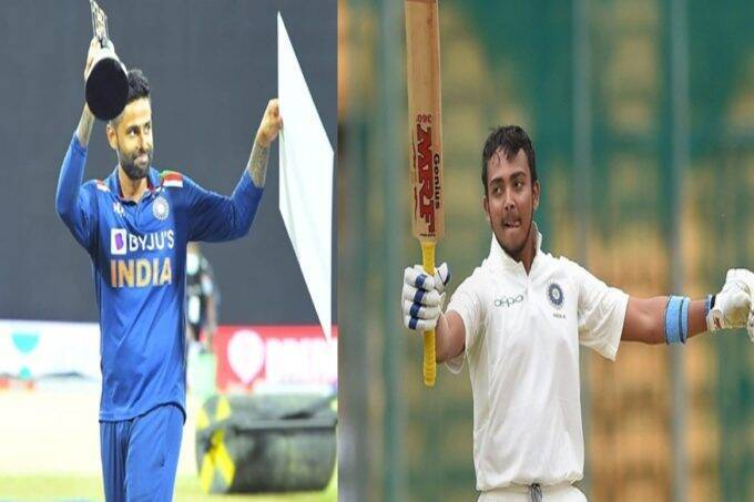 prithvi-shaw-and-suryakumar-yadav-set-to-fly-to-england-as-bcci-official-confirms-from-sri-lanka-for-five-match-test-series