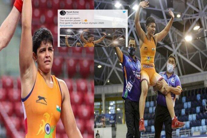 people-congratulated-priya-malik-for-winning-first-gold-of-tokyo-olympics-instead-of-world-wrestling-championship