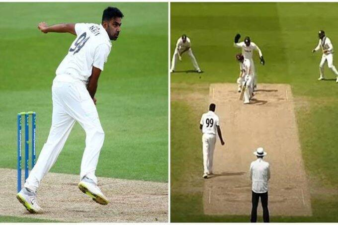 R Ashwin bowled a brilliant spell for Surrey in the second innings