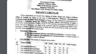 सब इंस्पेक्टर के पद पर चयनित उम्मीदवार को पे लेवल 6 के तहत 35,400 रुपए से 1,12,400 रुपए महीने का वेतन दिया जाएगा।