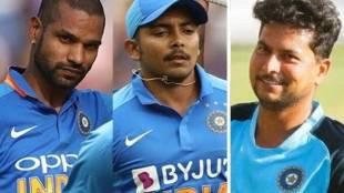 Shikhar Dhawan Prithvi Shaw Kuldeep Yadav India vs Sri Lanka