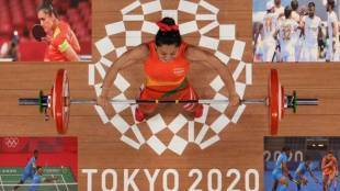 first-day-of-indian-squad-in-tokyo-olympics-as-mirabai-chanu-creates-history-and-hockey-team-gives-hope-of-medal