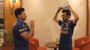 Watch Video kuldeep yadav yuzvendra chahal virat kohli rishabh pant ms dhoni