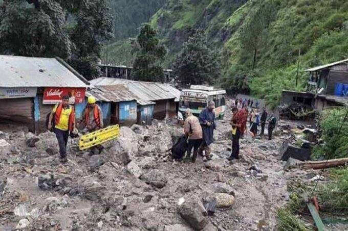 Jammu Kashmir. Landslide