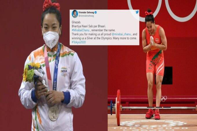 bhartiya-nari-sab-par-bhari-tweet-from-virender-sehwag-to-mirabai-chanu-after-silver-medal-in-tokyo-olympics-weightlifting-event