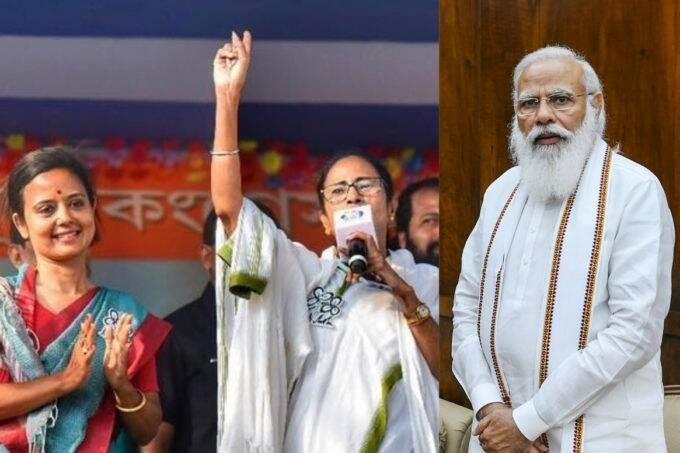narendra modi, mamata banerjee, mahua moitra